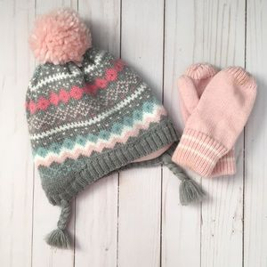Other - Toddler beanie and mittens